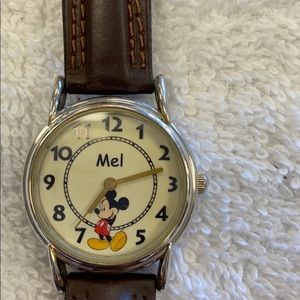 Personalized Mickey Mouse Watch with the name Mel